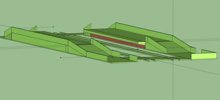 Bild des Modells in Sketchup